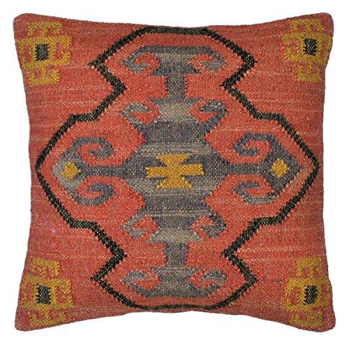 Kelim Kissen aus Jute & Wolle inkl. Füllung orientalisch Dekokissen Zierkissen Sofakissen ca. 55x55 cm