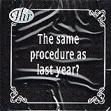 IHR - Cocktail Servietten - Dinner for One - The same procedure as last year?