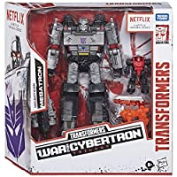 ‏‪Transformers Netflix War for Cybertron Trilogy Voyager Class Megatron Battle 3-Pack with Pinpointer and Lionizer‬‏