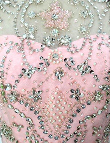 Dressystar Robe de soirée/Cérémonie Longue, Sans Manches, Perlée, à paillettes, en Mousseline Lavande