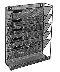 Vertikal Datei Organizer Für Home Und Office | Mail Halterung, Magazin Rack Und Datei Storage. Schwarz | By Omni Solidware