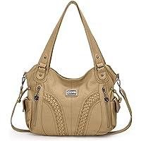 KL928 Damen Handtasche Leder Taschen Umhängetaschen Schultertaschen Henkeltaschen Hobo Tasche Weiches Damentasche für…