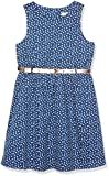 TOM TAILOR Kids Mädchen Kleid Girly Dress with dots and Belt, Blau (Estate Blue 6845), 116
