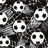 Schwarzer Fußball Timeless Treasures Stoff aus den USA
