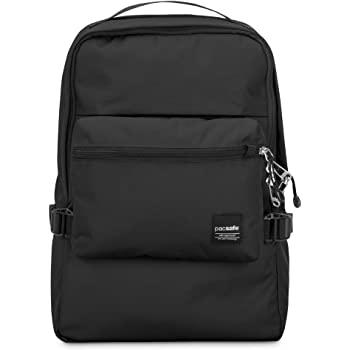 Pacsafe Slingsafe LX350 Anti-Theft Compact Backpack with Detachable Pouch, Black