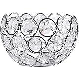 Akozon Sostenedor de Vela de Cristal Candelabro Decorativos, Decoración Elegante(Schüssel)