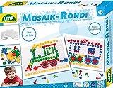 Lena 35710 - Mosaik Steckspiel & Rondi Spielset 3 in 1, mit 240 Mosaiksteckern 10 mm und 15 mm, 2 Stiftplatten je 28 x 19,5 cm und 22 Rondi Bauteilen, Bau- und Steckspielzeug für Kinder ab 3 Jahre