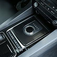 Estilo de fibra de carbono para Jag XE F-Pace X761 coche ABS plástico centro