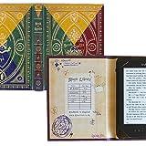 Diseño de Harry Potter Hogwarts caso, con forma de libro