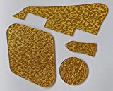 bangdan LP Plektrumschutz hinten Hohlraum, Halsstab, Kunststoff, Motiv Gold Sparkle