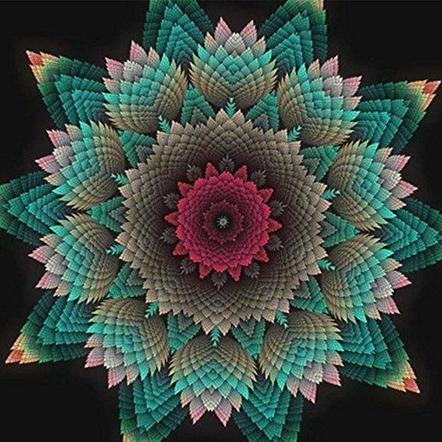 Personalizar 5d pintura de diamante completo taladros Kit de bordado de diamantes flores DIY Pintura Por Número de diamantes full mandala Mosaic Craft de punto de cruz Needlework Decor, talla L