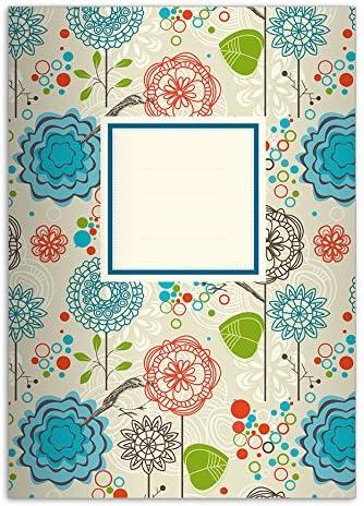 32 Joyeux cahiers personnalisés pour l'école primaire primaire primaire motif: flower power, multicolor, A5 (21 x 14,8;32p), linéatur 2 9cc883