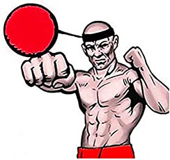 Enjocho Training Ball Fight Ball with Head Band Reflex Speed Training Boxing Boxing Punch Exercise Style 4