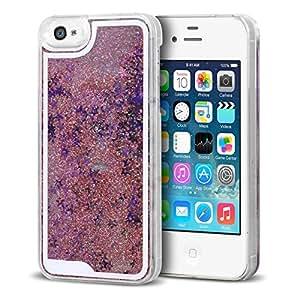 Caseink - Coque arrière rigide Liquid Diamonds Crystal Paillettes iPhone 4/4S - Rose