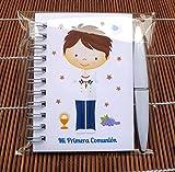 Regalos de Comunión Niño Marinero, Libretas con mini bolígrafo para Comuniones. Bonitas y...