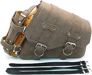 Universal Motorrad Satteltaschen Pu Leder Seitliche Werkzeugtaschen Für Harely Honda Suzuki Kawasaki Yamaha Satteltasche Braun Braun Recht Auto