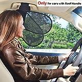 TFY Auto Innere Sonnenblende Sonnenschutz für den Haltegriff am Himmel plus Reduziertes Blenden des Fahrers und Mitfahrer
