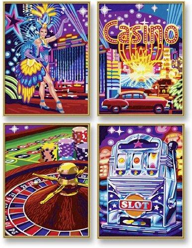 Preisvergleich Produktbild Schipper 609340559 - Malen nach Zahlen - Visit Las Vegas (Quattro), je 18x24 cm