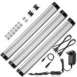 Ustellar Lot de 3 Unités, LED Lampe Sous Placard, Eclairage Encastré, 900lm, 3000K Blanc Chaud, Accessoires Inclus, idéal pour chambre, cuisine, salle de bains, armoire