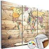 murando - Cuadro - Tablero de corcho 120x80 cm - Cuadro sobre corcho - Poster Mapamundi Continente -...
