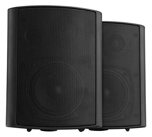 Pronomic USP-660 BK HiFi Wandlautsprecher Paar - 2-Wege Lautsprecher Boxen im Set - Ideal für Gastronomie und Terasse - inklusive Wandhalterung zur Befestigung - 240W Leistung - schwarz