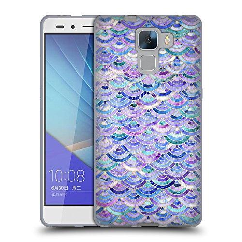 Offizielle Micklyn Le Feuvre Mosaik Und Amethyst Und Lapislazuli Marmor Muster Soft Gel Hülle für Huawei Honor 7