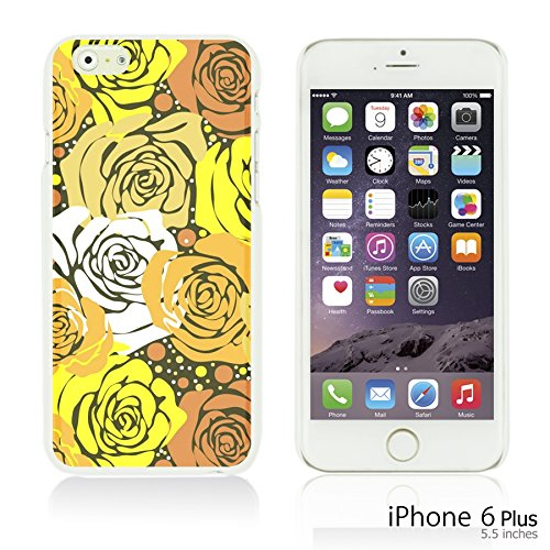 OBiDi - Flower Pattern Hardback Case / Housse pour Apple iPhone 6 Plus / 6S Plus (5.5)Smartphone - Colorful Floral Art Paint Yellow Roses
