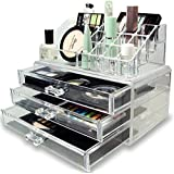 Sterling Cosmetic & Make Up Organizer Cum Storage Box,Ideal For Dressing Table Natural Acrylic Jewellery Storage Boxes