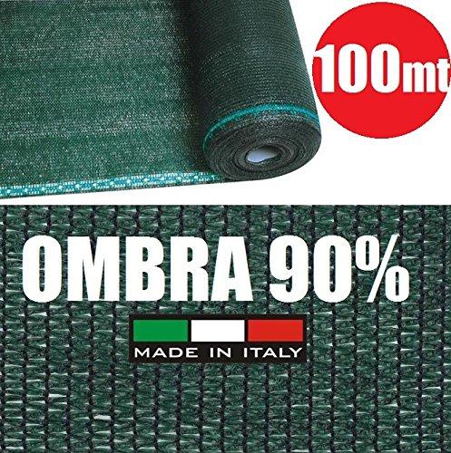 Rotolo 100mt telone ombreggiante frangivista verde - h 150 - per rete metallica - [cod.2803]