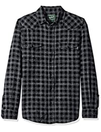 Woolrich Men's Southfield Space Dye Flannel Shirt Modern Fit