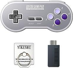SN30 2.4G Gamepad, YIKESHU 8Bitdo Wireless Controller Klassische Nintendo Gamepad Joystick für Mac, Android und Windows-Geräte