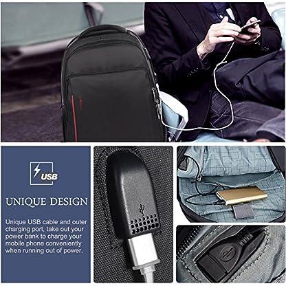 """6134yjs9z L. SS416  - VBIGER Impermeable Mochila Portatil con Puerto USB para Estudiantes Negocios Viajes,14"""" 15.6"""""""