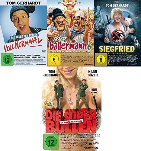 Tom Gerhardt - 4 DVD Set mit Voll normal, Ballermann 6, Superbullen, Siegfried - Deutsche Originalware [4 DVDs]