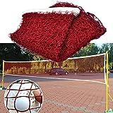 Snow Island Standard-Badmintonnetz, für Drinnen und draußen, tragbar, für Tennis/Badminton-/Volleyball-Training, quadratisches Netz, 610 x 76 x 2,0 cm