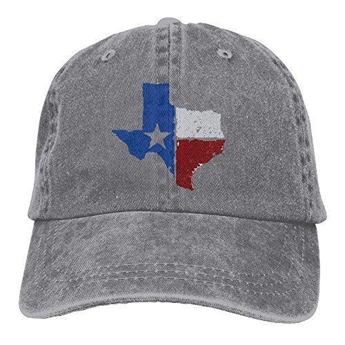 Jxrodekz Texas Flag Map Unisex Adjustable Baseball Caps Denim Hats Cowboy Sport Outdoor EE445