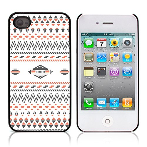 Graphic4You COLORFUL TRIBAL Muster Harte Hülle Case Tasche Schutzhülle für APPLE IPHONE 4 und 4S Design #2