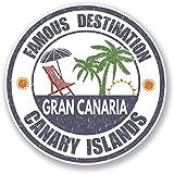 2 x 15cm/150 mm Gran Canaria, Islas Canarias Etiqueta autoadhesiva de vinilo adhesivo portátil de viaje equipaje signo coche divertido #6720