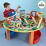 KidKraft 17985 Eisenbahnset & Spieltisch City Explorer, bunt