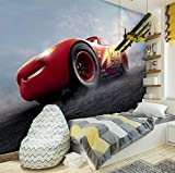 FORWALL Disney Cars Fototapete Tapete Cars 3 P4 (254cm. x 184cm.) Photo Wallpaper Mural AMF11487P4 Gratis Wandaufkleber Kinder Disney Cars Auto McQueen Sally Darrell