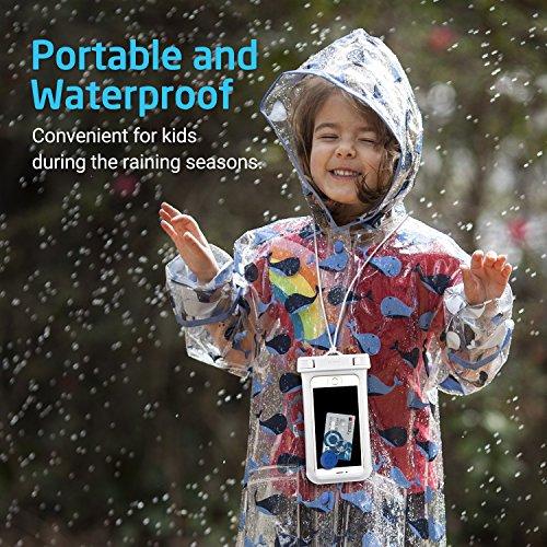 Wasserfeste Tasche, ESR 2017 Universal Trockenbeutel Wasserdichte Tasche Handytasche Hülle Handyhülle Kajak Schwimmen Bootfahren Angeln Skifahren Rafting für iPhone 7 / 6 / 6s plus iPhone 5 / 5s / SE  1 Weiß