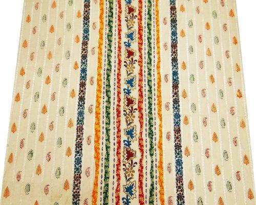 Weißen Anzug Herstellung Stoff Paisley-Muster Indischen Stil Designer-Kleid Von 1 Meter Nähen -
