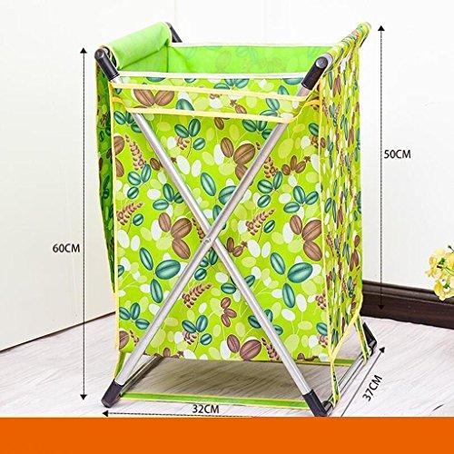 GAIHU Hängende Tasche Grün Grün Blatt Muster Falten Tuch schmutzig schmutzige Kleidung Warenkorb Warenkorb Container Spielzeug Wäschekörbe schmutzige Kleidung Ablagekorb mit Deckel (Waschküche Container)