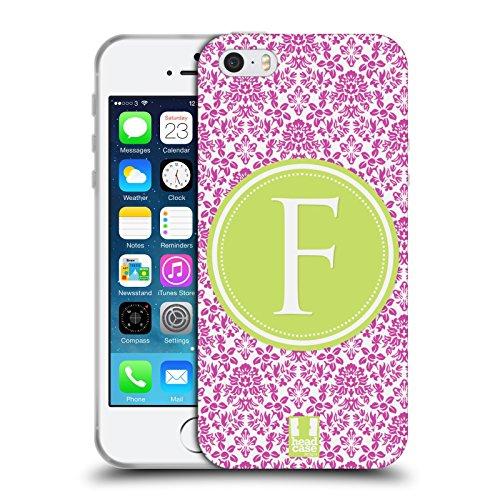 Head Case Designs F Buchstabe Handyhüllen Soft Gel Hülle für Apple iPhone 5 / 5s / SE