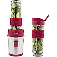 H.Koenig Mini Blender Transportable Compact 570mL SMOO10 sans BPA Puissant 300W, Mixeur à Smoothie 2 Bouteilles…