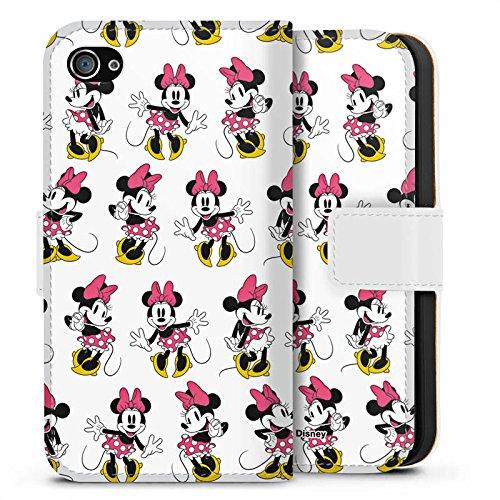 Apple iPhone X Silikon Hülle Case Schutzhülle Disney Minnie Mouse Merchandise Geschenke Sideflip Tasche weiß