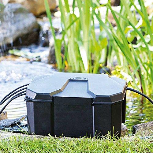 Heissner Z960–00Strom-Box für den Garten–Schwarz