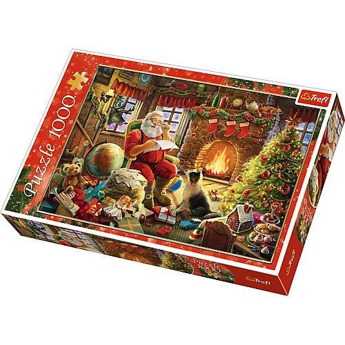 Trefl TRF10432 - Puzzle Babbo Natale Seduto al Caminetto
