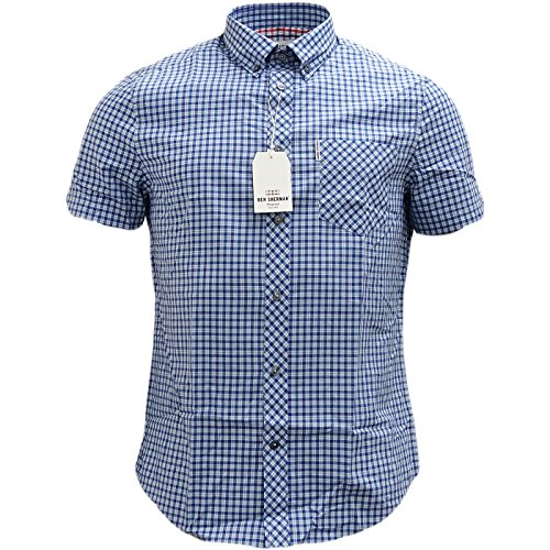 ben-sherman-house-check-camisa-para-hombre-blue-pigment-blue-small