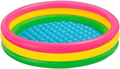 Intex Sunset Glow Baby Pool, Multi Color - 2 Feet