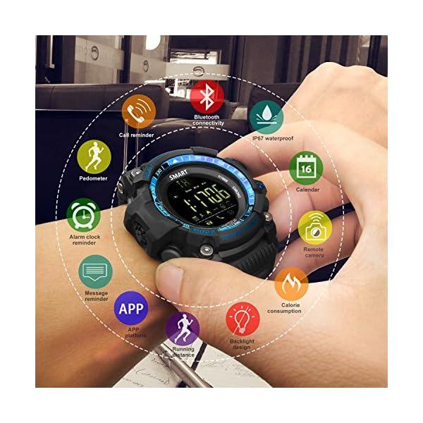 Reloj deportivo inteligente (Podómetro, Entrenamiento Fitness, Tencología